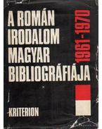 A román irodalom magyar bibliográfiája 1961-1970 - Domokos Sámuel
