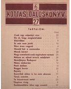 Kottás dalosköny 27. szám - Tardos Béla