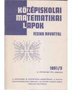 Középiskolai matematikai lapok 1991/3. január - Hermann Péter, Gajzágó Éva, Pataki János