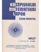 Középiskolai matematikai lapok 1991/7. október - Hermann Péter, Lugosi Erzsébet (szerkesztő), Gajzágó Éva