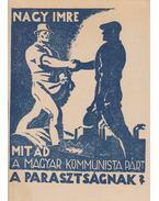 Mit ad a Magyar Kommunista Párt a parasztságnak? - Nagy Imre