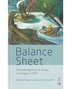 Balance Sheet (Disadvantaged Social Groups in Hungary in 2007) - Kósáné Kovács Magda, Pető Andrea