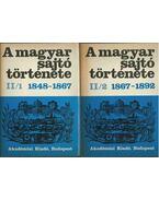 A magyar sajtó története II/1-2. 1848-1892 - Kosáry Domokos, Németh G. Béla