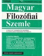 Magyar Filozófiai Szemle 1999/6 - Lendvai L. Ferenc, Steiger Kornél