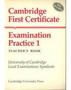 Cambridge First Certificate Examination Practice 1 - Teacher's Book - Leo Jones