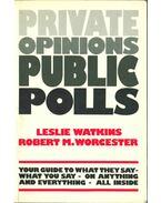 Private Opinions Public Polls - Leslie Watkins, Robert M. Worcester