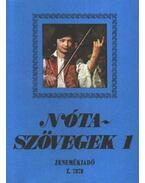 Nótaszövegek 1. - Leszler József