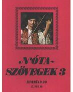 Nótaszövegek 3. - Leszler József
