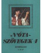 Nótaszövegek 4. - Leszler József