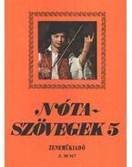 Nótaszövegek 5. - Leszler József