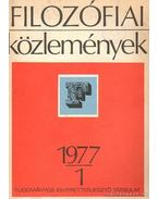 Filozófiai közlemények 1977-1 - Licskó György