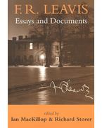 F,R, Leavis – Essays and Documents - MacKILLOP, IAN