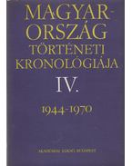 Magyarország történeti kronológiája IV.