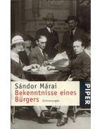 Bekenntnisse eines Bürgers - Márai Sándor