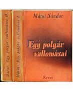 Egy polgár vallomásai I-II. kötet - Márai Sándor