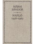 Napló 1958-1967 - Márai Sándor