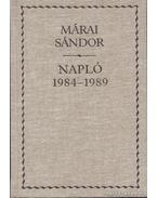Napló 1984-1989 - Márai Sándor