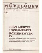 Pest megyei honismereti közlemények IV. - Máté György