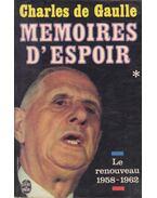 Memoires d'Espoir I. - de Gaulle, Charles