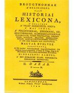 Brougthonnak a religióról való históriai lexicona II. - (D-M.) - Mindszenti Sámuel; Thomas Broughton