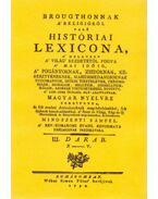 Brougthonnak a religióról való históriai lexicona III. - (N-V.) - Mindszenti Sámuel; Thomas Broughton