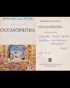 Olvasópróba (dedikált) - Molnár Gál Péter