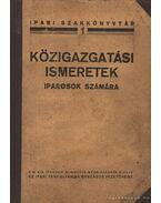 Közigazgatási ismeretek iparosok számára - Moór Jenő