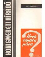 Honismereti Híradó 1972. február - Morvay Péter
