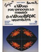 A Word for Windows 2.0 makrói és a WordBasic használata - Nagy Gábor