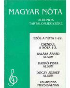 Magyar nóta - Albumok tartalomjegyzéke - Nógrádi Tóth István (szerk.)