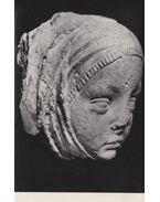 Női fej alakú gyámkő 1365. (képeslap)