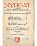 Nyugat 1938 november XXXXI. évf. 11. szám - Babits Mihály, Gellért Oszkár