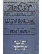 Az Est-lapok 1920-1939 - Pesti Ernő
