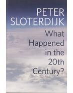 What Happened in the 20th Century? - Peter Sloterdijk