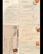 Peyer Károly (1881–1956) szociáldemokrata politikus személyes hangú, saját kézzel írt és aláírt levele özvegy doktor Moskovits Rózsi gyermekorvos asszonynak és családjának Peyer Károly országgyűlési képviselői fejlécen papírján. – Peyer Károly politikus öt további, saját kézzel írt újévi üdvözlőkártyája Moskovits Rózsi asszonynak 1932 és 1946 között. - Peyer Károly