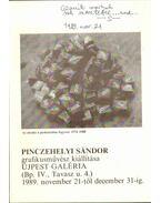 Pinczehelyi Sándor grafikusművész kiállítása (dedikált) - Hegyi Lóránd