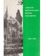A Magyar Mezőgazdasági Múzeum közleményei 1988-1989 - Pintér János
