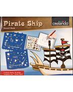 Pirate Ship Stencil Book