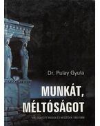 Munkát, méltóságot - Pulay Gyula