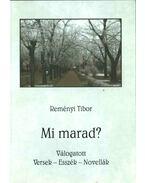 Mi marad? - Reményi Tibor