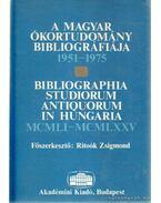 A magyar ókortudomány bibliográfiája 1951-1975 - Ritoók Zsigmond