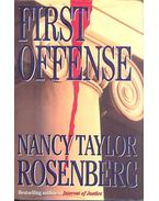 First offense - Rosenberg, Nancy Taylor