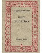 Hazai tudósítások - S. Varga Katalin (szerk.)
