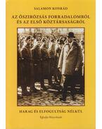 Az őszirózsás forradalomról és az első köztársaságról - Salamon Konrád
