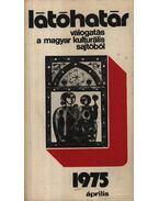 Látóhatár 1975 Április - Szabolcsi Miklós