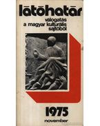 Látóhatár 1975 November - Szabolcsi Miklós