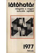 Látóhatár 1977 Február - Szabolcsi Miklós