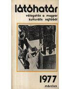 Látóhatár 1977 Március - Szabolcsi Miklós
