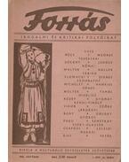 Forrás 1943 október I. évfolyam 10. szám - Szombathy Viktor
