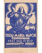 Tiszai Mária Napok Csongrádon (képeslap)